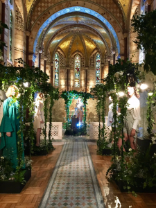 Fitzrovia Chapel decorated Alistair James collection London Fashion Week