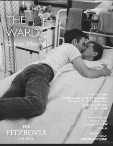 A photograph of two men in the Middlesex Hospital by Gideon Mendel