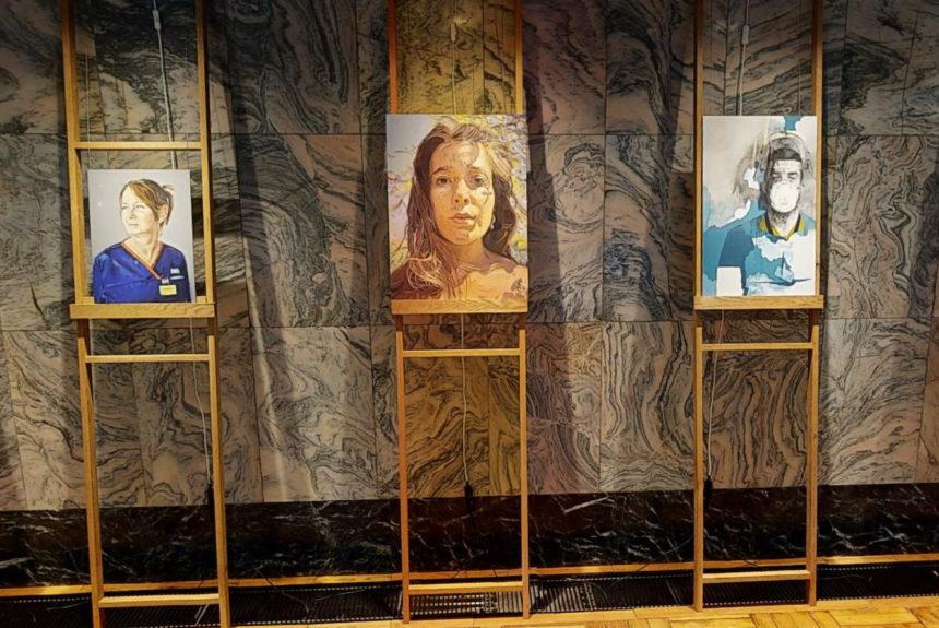 Artist Tom Croft Brings Portraits of NHS Heroes to Fitzrovia Chapel