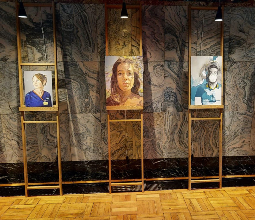 Artist Tom Croft Brings Portraits of NHS Heroes to Fitzrovia Chapel